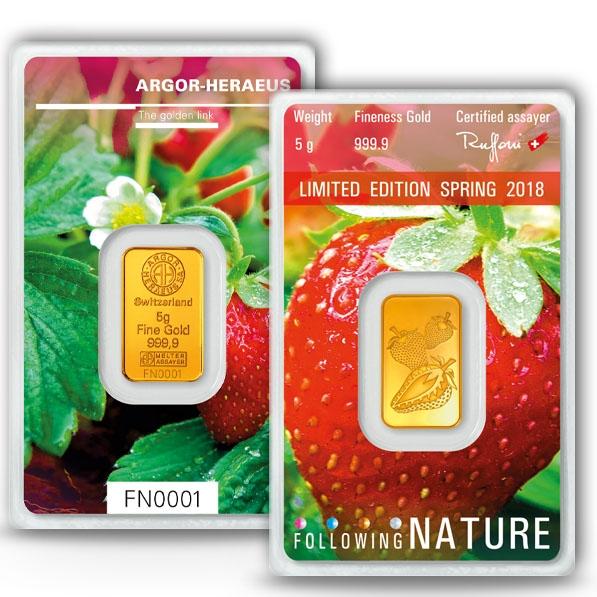 Following Nature - Frühling - 5 Gramm Gold 2018