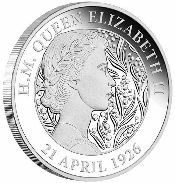 95th Birthday Queen Elizabeth II 1 Unze Silber Proof 2021 +Box +Zertifikat*