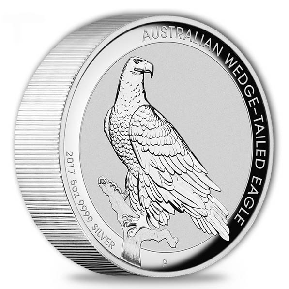 Wedge Tailed Eagle 5 Oz Silber High Relief 2017 +Box *