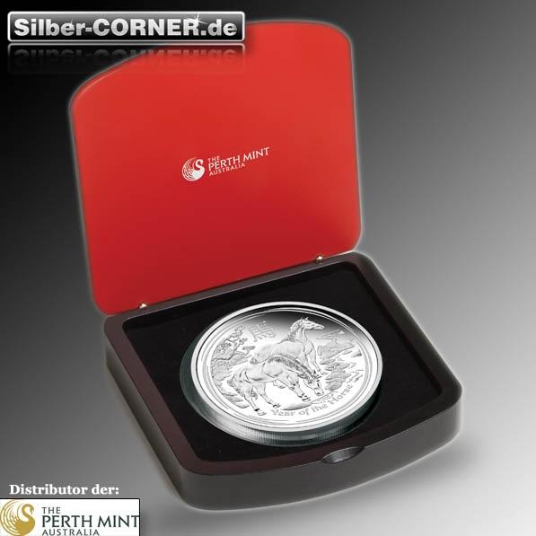 Lunar II Pferd 1 KG Proof Silber Box + CoA 2014*