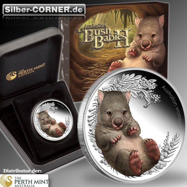 Bush Babies II Wombat 1/2 Oz Silber Proof 2013 + Box + Coa*