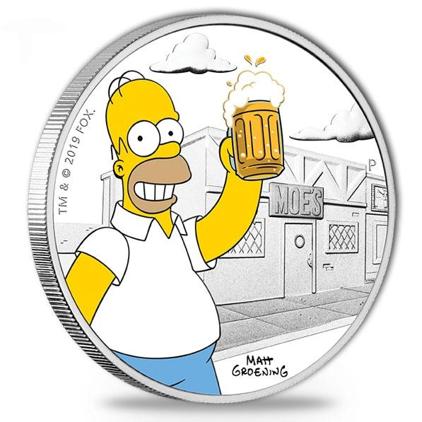 1 oz Silber Proof Homer Simpson 2019 *