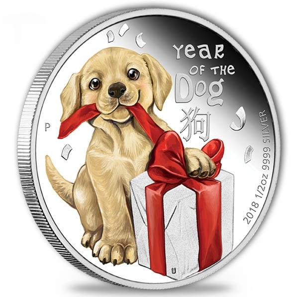 Baby Hund 1/2 Oz Silber 2018 Proof +Box + Zertifikat*