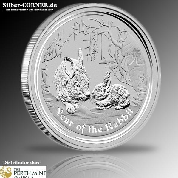 Lunar II Hase 10 Oz Silber 2011 *