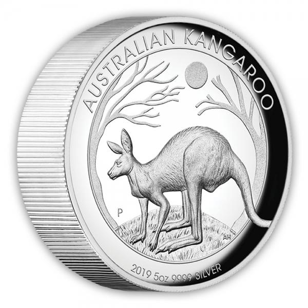 5 Oz Silber High Relief Känguru 20019 *