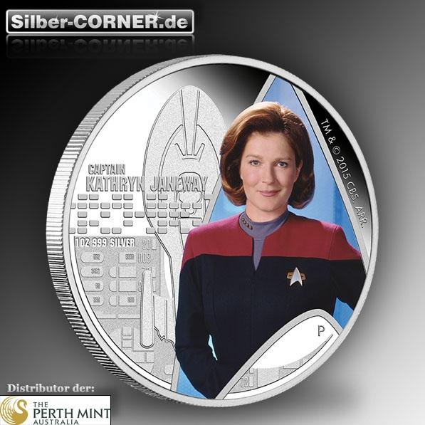 Star Trek - Voyager - Capt. Janeway 1 Oz Silber Proof*