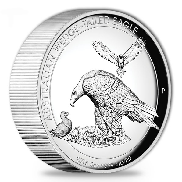 Wedge Tailed Eagle - 5 Unzen Silber High Relief 2018*