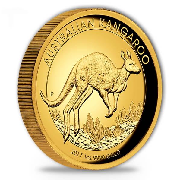 High Relief - Känguru 2017 - 1 Oz Gold + Box + COA