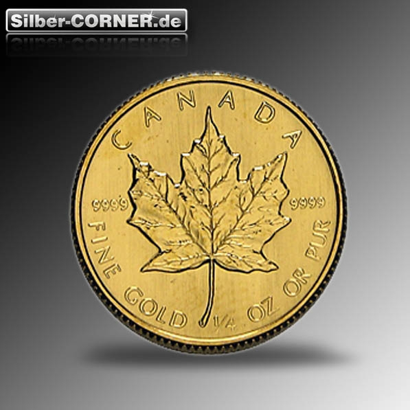 Viertel Unze Maple Leaf Gold 2014