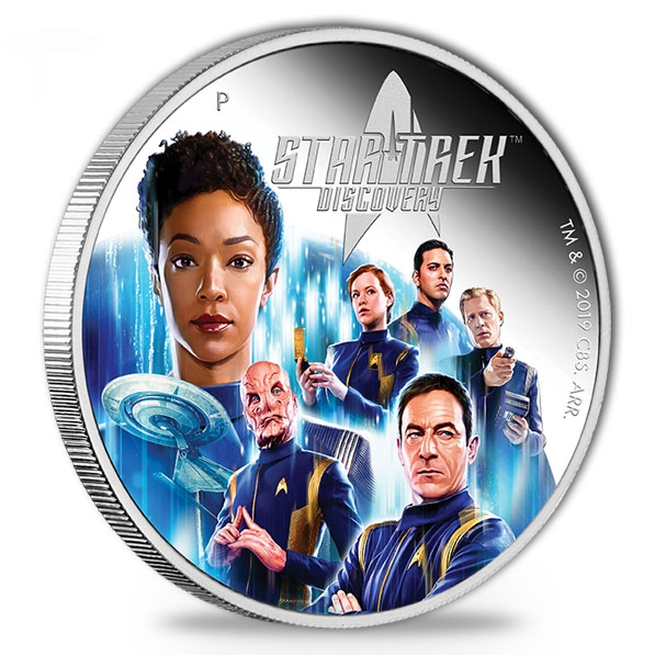 Star Trek Discovery Crew 2019 2 Oz Silber Proof *