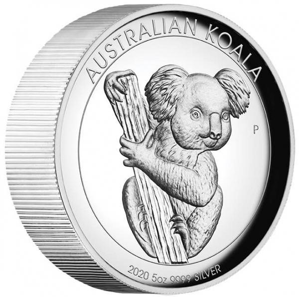 Koala 5 Unzen Silber High Relief 2020 + Box + COA*