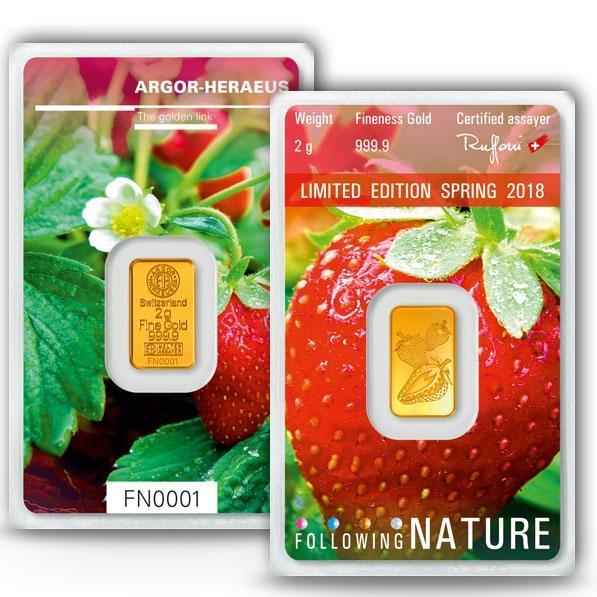 Follwing Nature - Frühling - 2 Gramm Gold 2018