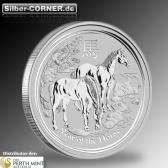 Rückseite der 10 KG Pferd Münze