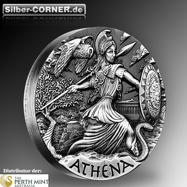 Goddesses of Olympus - Athena 2 Oz Silber High Relief *