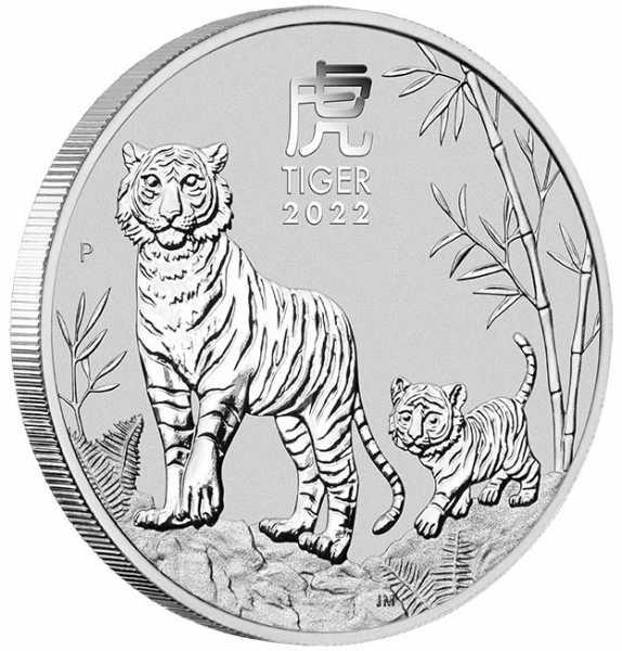 Lunar 3 - Tiger - 2 Unzen Silber 2022*