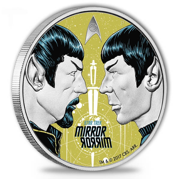 Star Trek Mirror 1 Oz Silber Proof Coin 2017 *