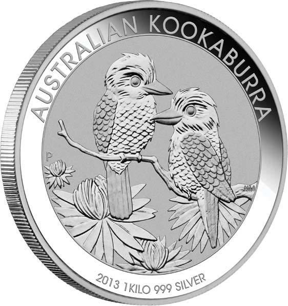 Kookaburra 1 KG 2013 SIlbermünze