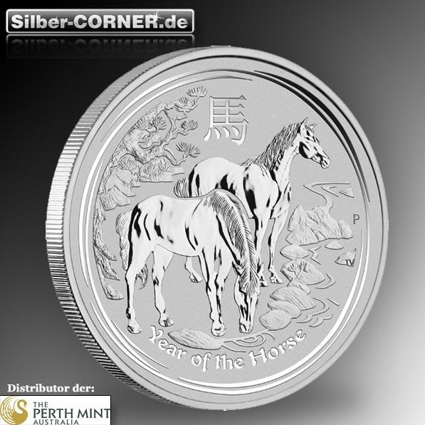 Lunar Pferd 2 Oz Silber