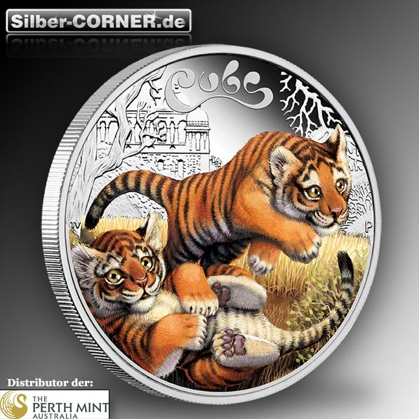 The Cubs Motiv Tiger 1/2 Oz Silber
