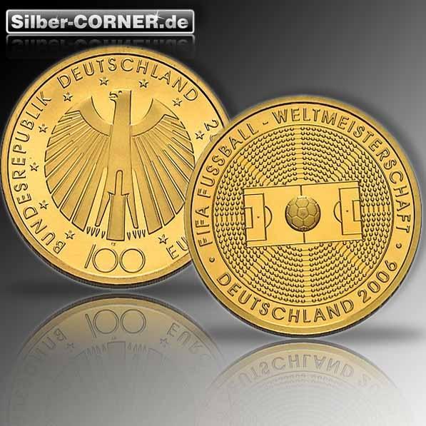 100 Euro Fußball Weltmeisterschaft 1/2 Oz Gold