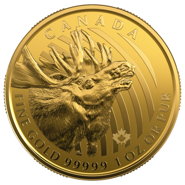 Call of the Wild - Moose - 1 Oz Gold 2019