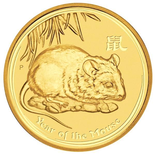 Lunar Maus 1 Unze Gold 2008