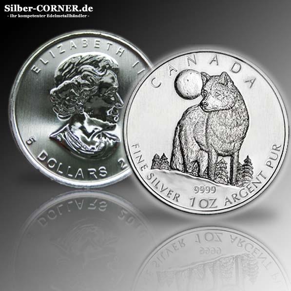 1 Oz Silber Timberwolf 2011 Kanada*