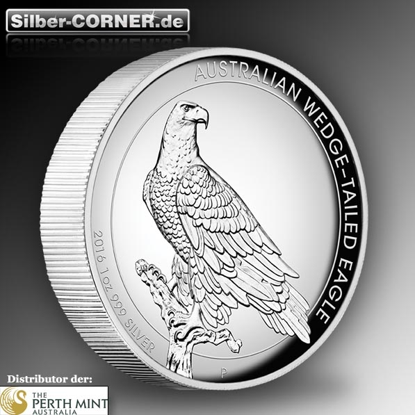 1 Oz Silber High Relief Wedge Tailed Eagle 2016