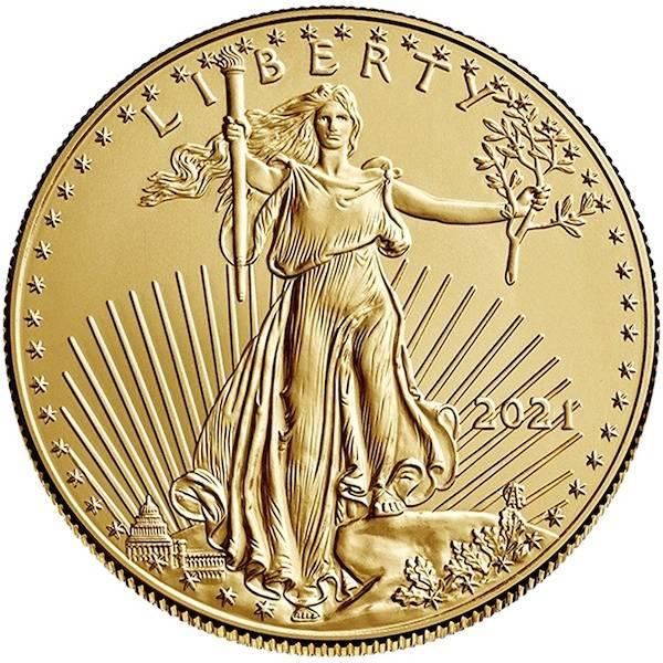 American Eagle 1/10 Oz Gold 2021
