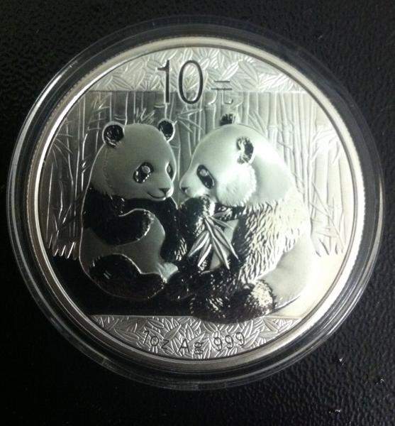 China Panda 1 Unze Silber 2009*