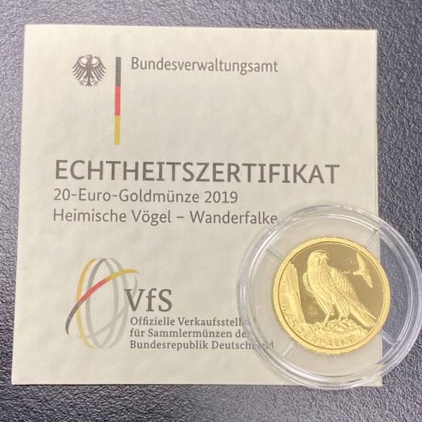 1/8 Oz Gold Wanderfalke 2019 Heim.Vögel