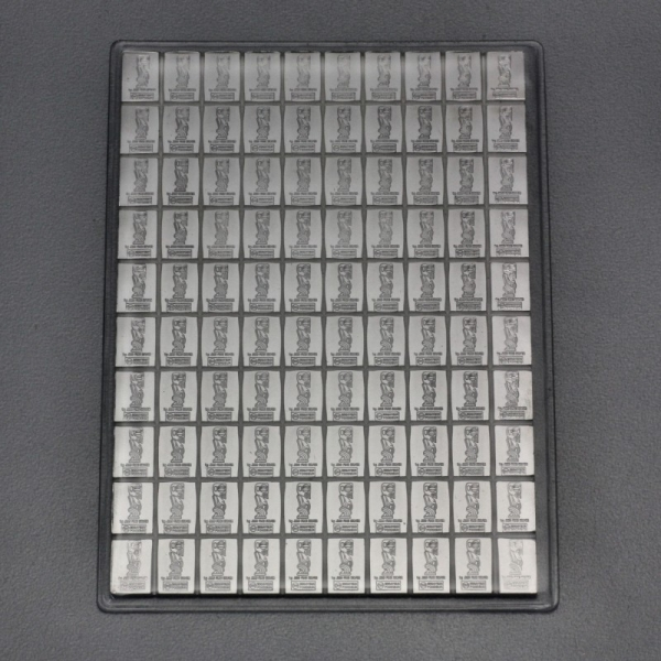 Silbertafel 100 x 1 Gramm Tafelbarren