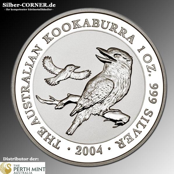 2004 Kookaburra 1 Oz Silber