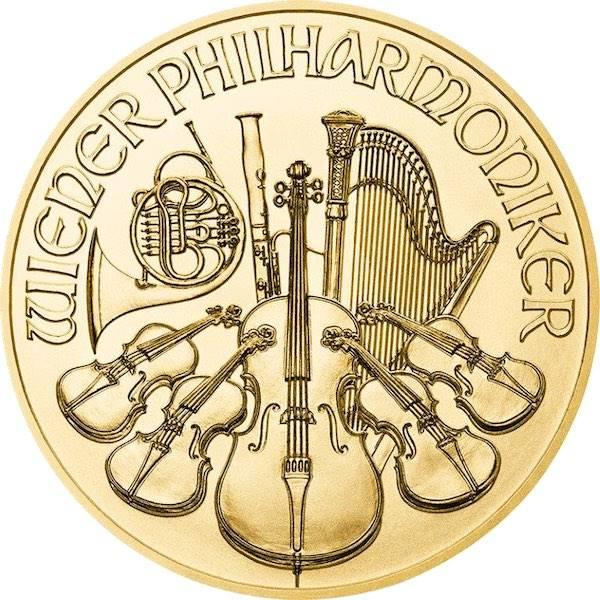 Wiener Philharmoniker 1/10 Unze Goldmünze