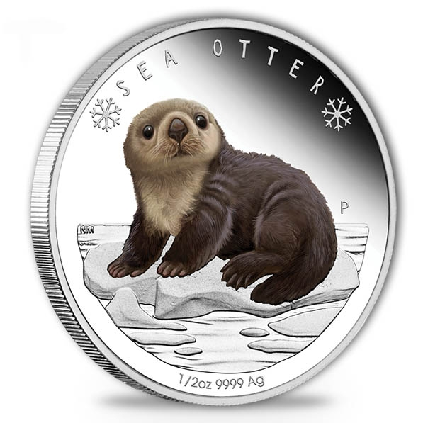 Polar Babies - Sea Otter - 1/2 Oz Silber Proof +Box +COA*
