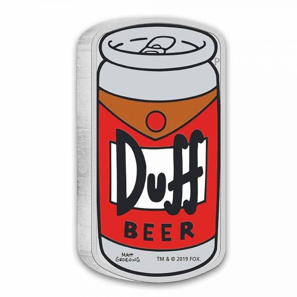 Duff Beer 1 Unze Silbermünze