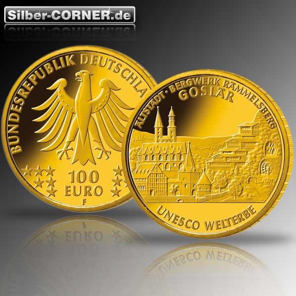 100 Euro Goldmünze Goslar 2008