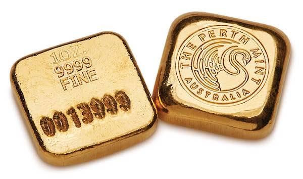 Perth Mint Goldbarren gegossen 1 Oz