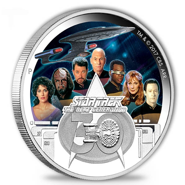 Star Trek - Next Generation - 2 Oz Silber + Box + COA*