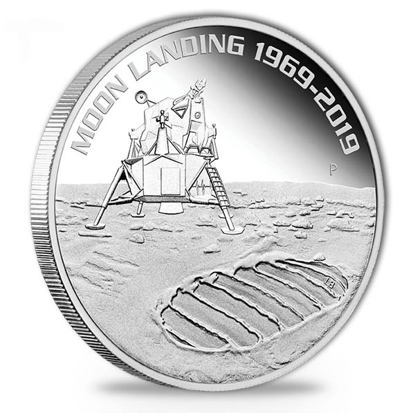 1 Oz Silber 50th Moon Landing Proof 2019*