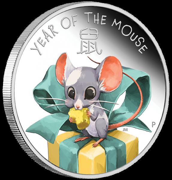 Baby Maus 1/2 Oz Silber Proof 2020 + Box +Zertifikat*