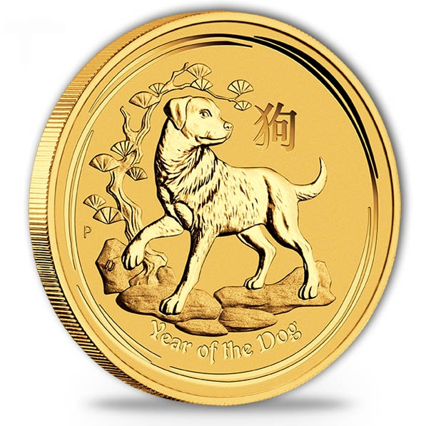 Lunar II - Hund - 1/4 Oz Gold 2018