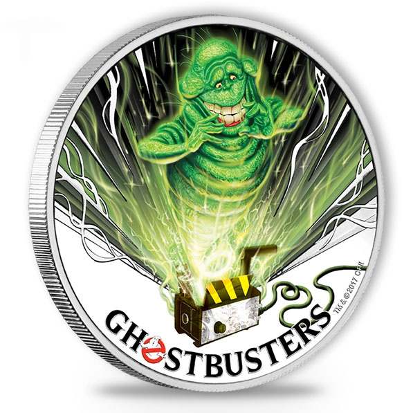 Ghostbusters - Slimer - 1 Oz Silber + Box + COA *