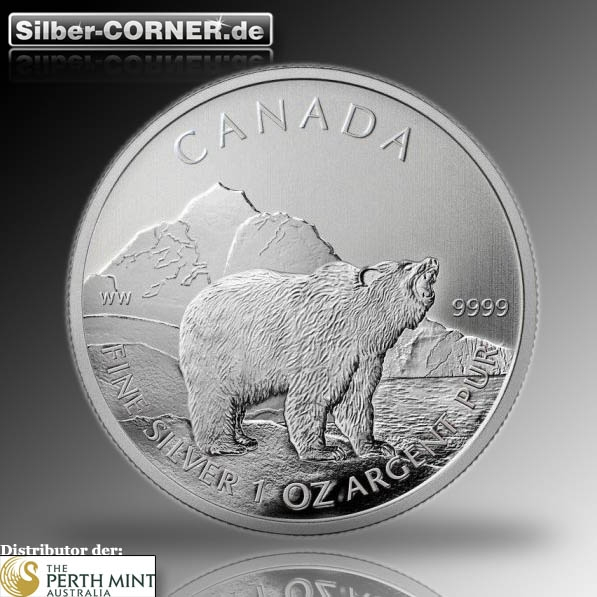 Can. Wildlife Grizzly 1 Oz Silber 2011*