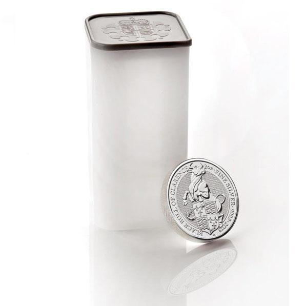Original Royal Mint Tube - Queens Beasts 2 Oz Silber