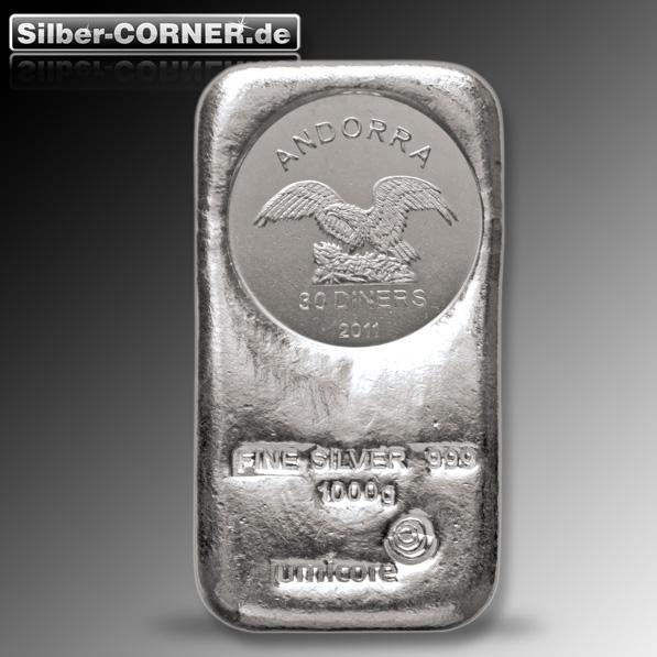 Umicore 1 Kg Silber Münzbarren
