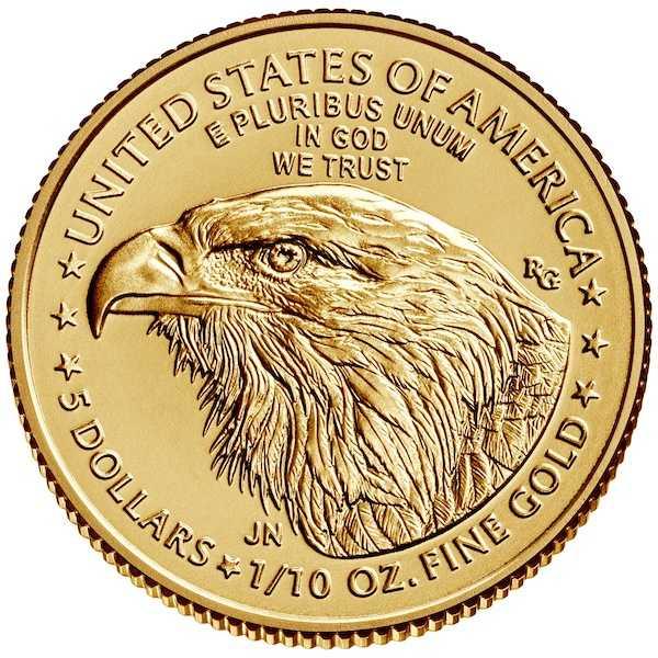 American Eagle 1/10 Oz Gold 2021 - Typ 2 -