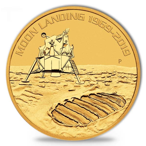 First Moon Landing 1 Oz Gold