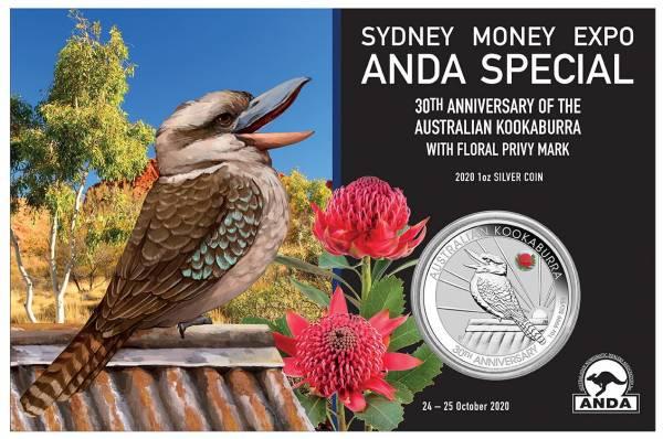 Kookaburra 1 Oz Silber 2020 - Anda Sydney Special*