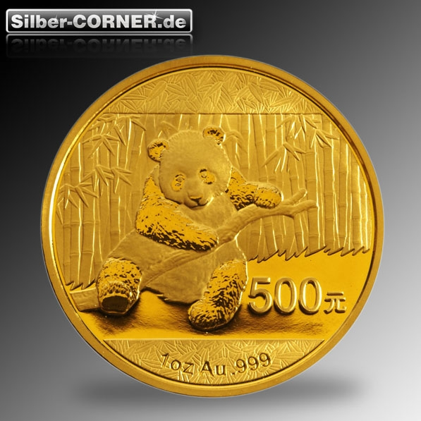 China Panda 1 Oz Gold 2014 Frontansicht